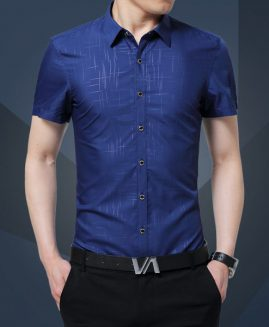 1PCS MEN'S PLUS SIZE SHIRTS SPRING PURE SILK