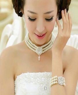 fashion big pearl bride sets of beautiful