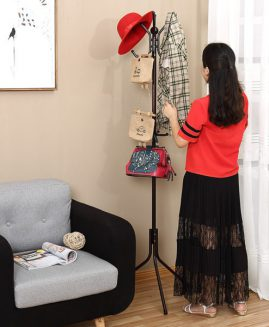 Metal Coat Rack Free Standing Display Stand Hall Christmas Gift